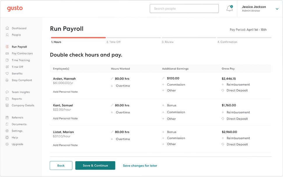 Run Payroll - ZarMoney